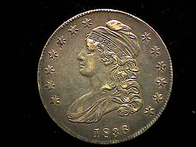 A Really Nice 1836 Capped Bust Lettered Edge U. S. Half Dollar Coin