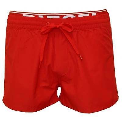 Diesel Seaside Men's Swim Shorts with Double-waistband, Red