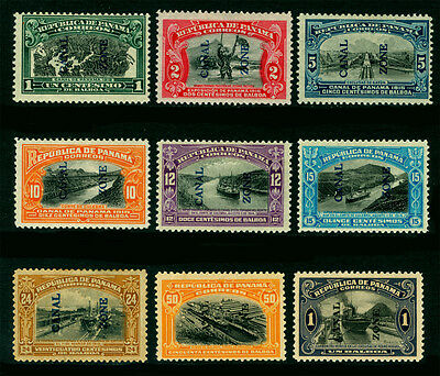 CANAL ZONE (US) 1915/20  PICTORIALS complete set Sc# 42-45, 49-51, 58-59 mint MH