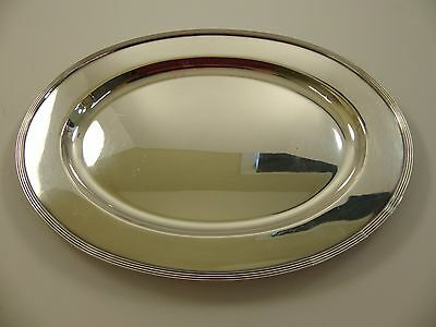 "Antique Vintage Wallingford SilverPlate Tray Platter Oval 14"" 3040N"