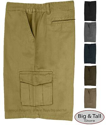 Big & Tall Men's Expandable Waist Cargo Shorts Sizes 44 - 70 by Full Blue