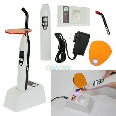 LCD Dental 10W Wireless Cordless LED Curing Light Lamp 2000mw With Light Meter