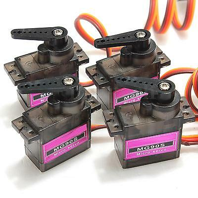 4x MG90S 9g Micro Pro Metal Gear Servo High Speed For Car Boat Plane Helicopter