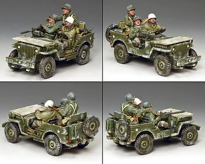 "King & Country Ww11 Battle Of The Bulge ""the Winter Jeep"" Bba084 Military"