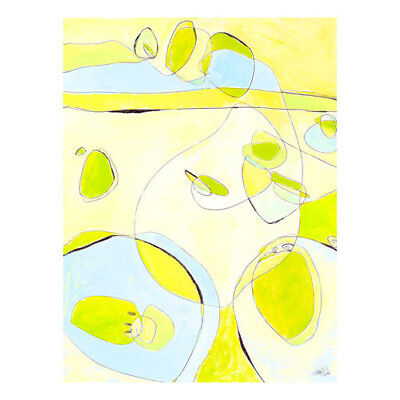 Oopsy Daisy Lime White Canvas Art
