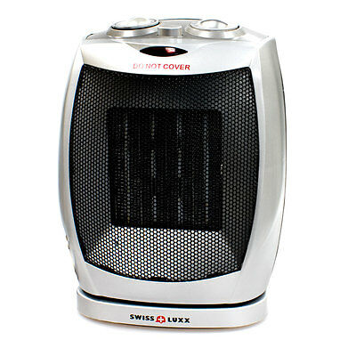 Swiss Luxx Portable Oscillating Electric Heater