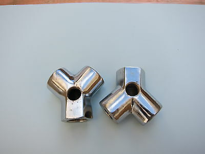 """Lowrider Hydraulics 1/2"""" to 3/8"""" Y block fitting made of steel, reusable"""