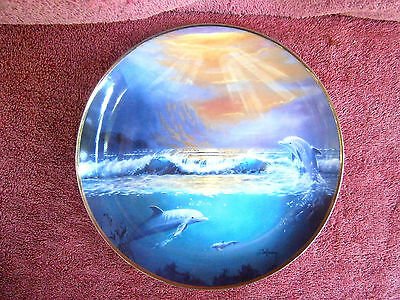 Franklin  Mint  Dawn  Of  The  Dolphin  Limited  Edition  Plate