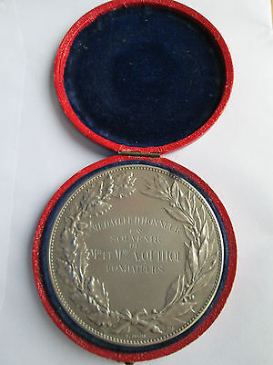 Very Large French Silver School Medal