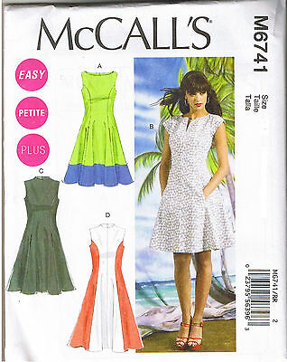 EASY COLOR BLOCK Fit Flared Princess Seam Dress Sewing Pattern Sz 40 Enchanting Princess Seam Dress Pattern