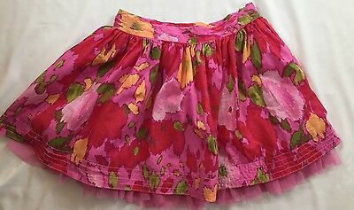 Gap Kids Girls Size 12 Years XL Pink Multi-colored Tulle Lined Spring Skirt