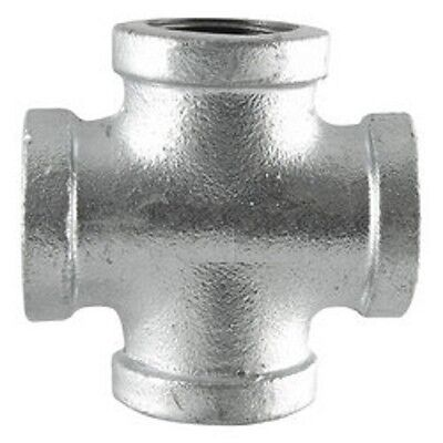 "1"" GALVANIZED MALLEABLE IRON CROSS 4-way TEE fitting pipe npt"