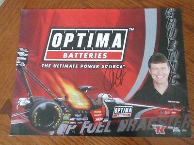 Dave Grubnic ~Signed/Autographed~2012 NHRA Hero Card~Optima Batteries