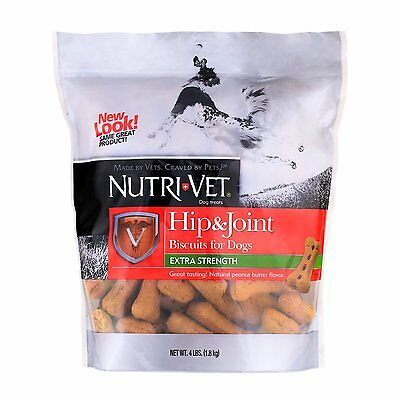 Nutri-Vet Hip & Joint Hip & Joint Biscuits for Dogs (60802-9) Size: 4 Pound  DTF
