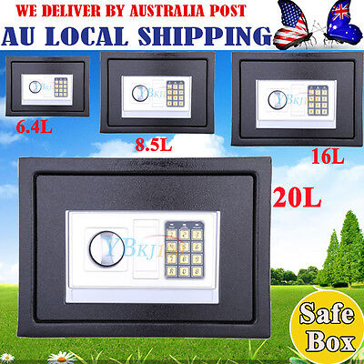 Personal Digital Electronic Safe Box Keypad Lock Home Office Security Black SML