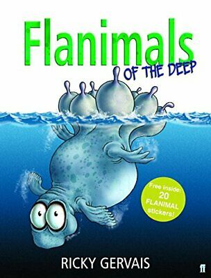 Flanimals of the Deep by Ricky Gervais Hardback Book The Cheap Fast Free Post