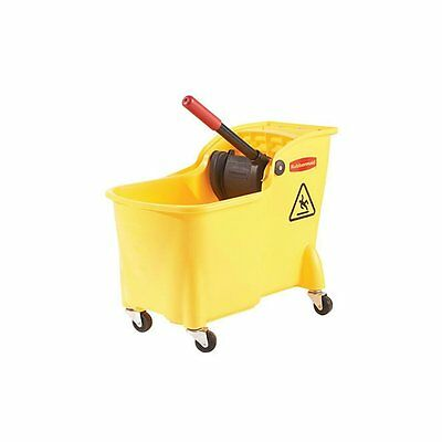 Rubbermaid Professional Plus Mop Bucket and Wringer Combo (FG728100YEL) NEW