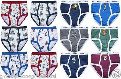 3 6 12 Boy's Soft Cotton Briefs Cartoons Designs CDWC Lot NEW Underwear S~XL