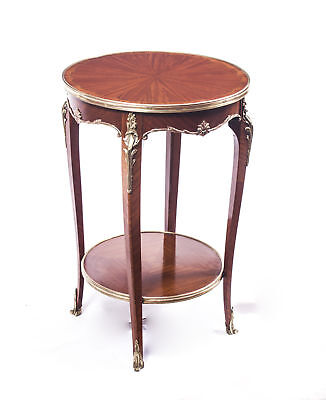 Antique French Flame Mahogany Occasional Side Table c.1880