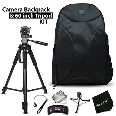 Well Padded Camera Backpack + 60 inch Tripod for Canon EOS XC10