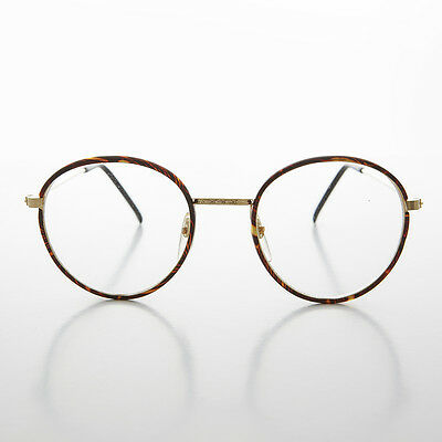 f0f71cb3e321 Round Gold Tortoiseshell Wrapped Polo Style Vintage Glasses Red Tort  -EINSTEIN