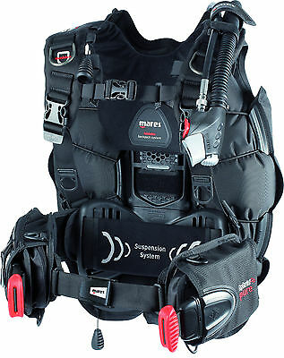 Mares Hybrid Pure Dive Scuba Diving Men's BCD Buoyancy Compensator XL