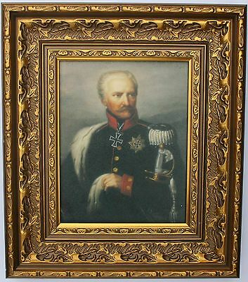 Blücher   Framed Oleograph  R576#E  Reproduction Picture , Waterloo