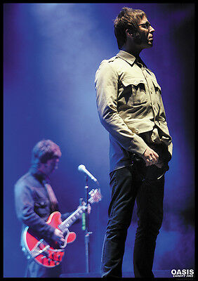 """Oasis Liam Gallagher Poster Cardiff A1 Size 84.1cm x 59.4cm approx 33"""" x 24"""""""