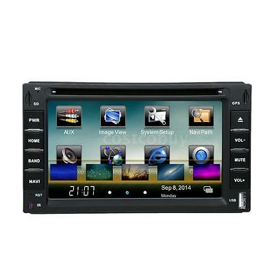 "6"" Car Universal DVD USB SD Player GPS Navigation 2 Din Bluetooth Radio MP4 R1Y7"