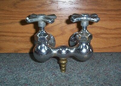 LOVELY Antique Claw Foot BATH TUB FAUCET Nickel Brass Chrome Vintage Plumbing