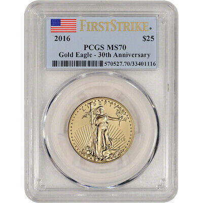 2016 American Gold Eagle (1/2 oz) $25 - PCGS MS70 - First Strike