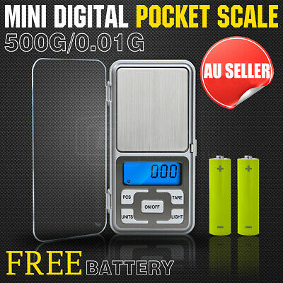 NEW 500g 0.1g DIGITAL POCKET SCALES JEWELLERY PRECISION ELECTRONIC WEIGHT LAB