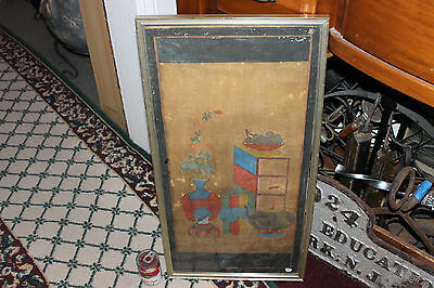 Antique Korean Woodblock Painting Scroll-Pottery & Furniture-Joseon Dynasty-#6
