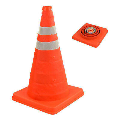 "18"" Portable Pop Up Safety Traffic Cone Collapsible Driving Safety Essential"