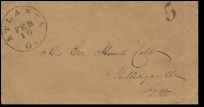 Cover addressed to notable Confederate Gen. Howell Cobb - Gov. of Georgia *CW2