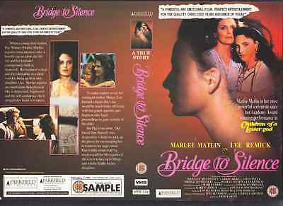 Bridge To Silence, Marlee Matlin VHS Video Promo Sample Sleeve/Cover #8636