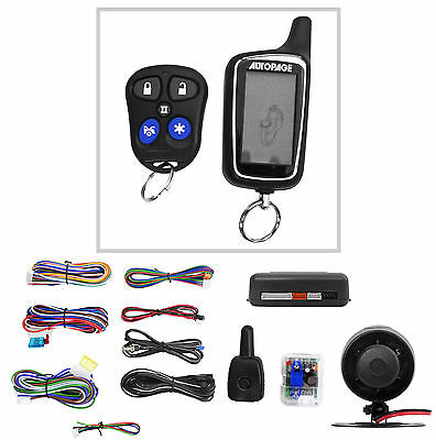 New Autopage RF425A 2-Way Car Alarm Security System w/ Keyless Entry+Remote