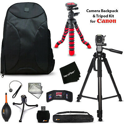 Well Padded Camera Backpack + 2 Tripods + KIT for Canon EOS Rebel T3i