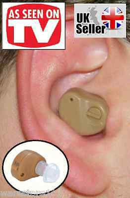 Micro Hearing Aid Discrete Hidden Mini Sound Amplifier + 3 Batteries - Uk