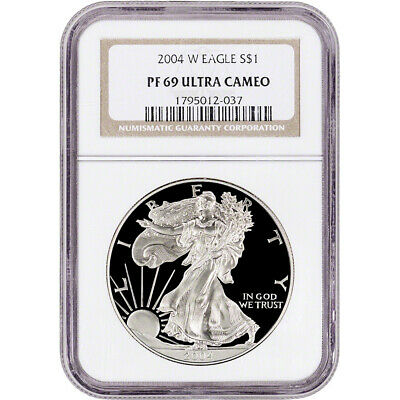 2004-W American Silver Eagle Proof - NGC PF69 UCAM