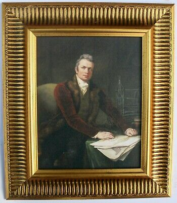 Sir Marc Isambard Brunel Framed Oleograph,  Reproduction Picture , Engineer