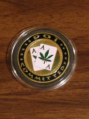 Poker Card Protector Coin - Pot Committed
