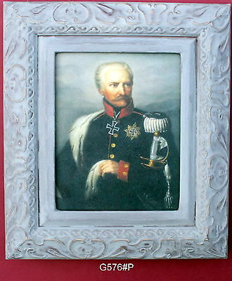 Blücher   Framed Oleograph  G576#P  Reproduction Picture , Waterloo