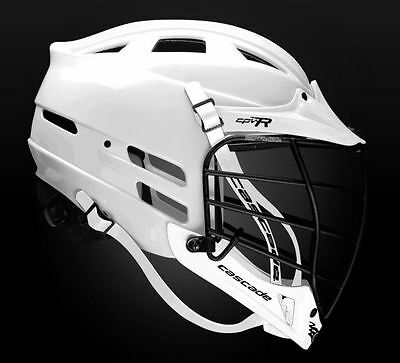 Cascade CPVR Lacrosse Helmet All White with Black Mask Adult Small/Medium