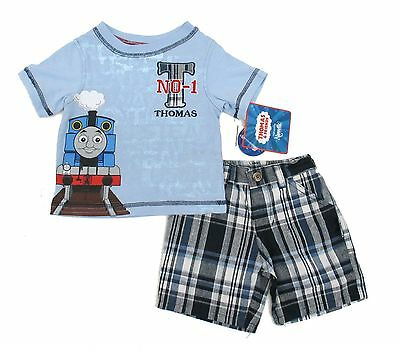 Thomas Friends Baby Toddler Boys Outfits Set 2 Piece Shorts Tee 12 18 Months New