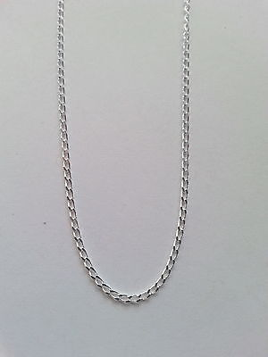 925 Italian made 925 sterling silver long curb chain 40 45 or 50 cms