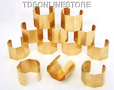 "5 Sided Brass Bracelet Cuff Blanks For Jewelry Making 2"" Pkg Of 12"
