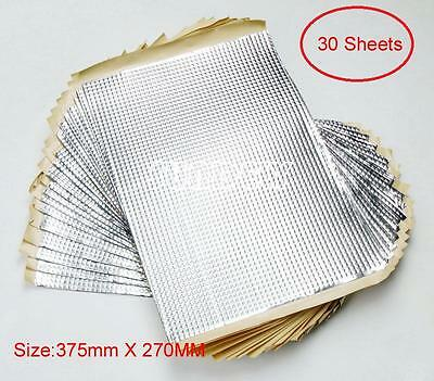 30 Sheets 2mm CAR VAN VEHICLE SOUND DEADENING PROOFING Material 375mm x 270mm