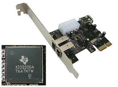PCI EXPRESS PCIE Controleur FIREWIRE 400 IEEE1394a CHIPSET TI TEXAS INSTRUMENTS