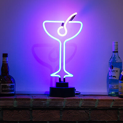 Neon Bar Pub Light Sign Table Lamp 3D Sculpture Cocktail With Olive -UK STOCKIST